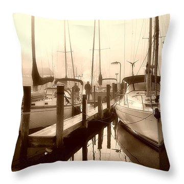 Throw Pillow featuring the photograph Calmly Docked by Brian Wallace