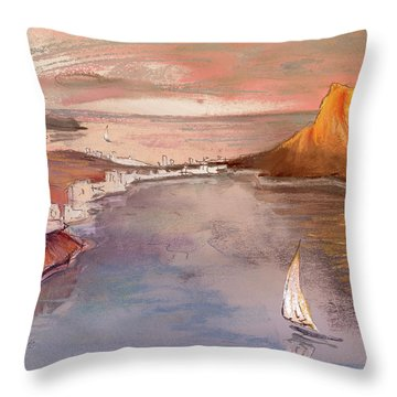 Calpe At Sunset Throw Pillow