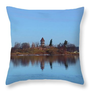 Calumet Island Reflections Throw Pillow