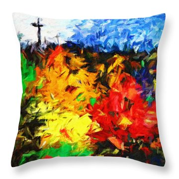 Calvary Hill Throw Pillow