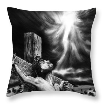 Calvary Throw Pillow by Peter Piatt