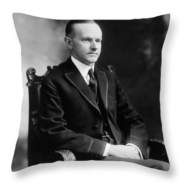 Calvin Coolidge Throw Pillow