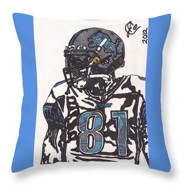 Calvin Johnson Jr 3 Throw Pillow