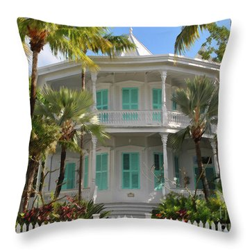 Throw Pillow featuring the photograph Calvin Klein House by Jost Houk