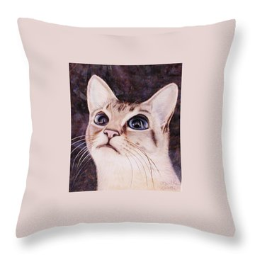 Calvin The Cat Throw Pillow