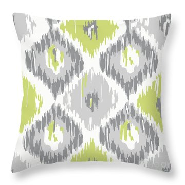 Calyx Ikat Pattern Throw Pillow by Mindy Sommers