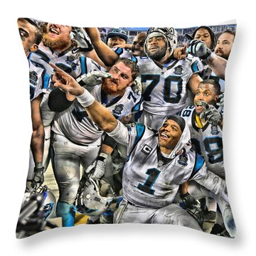 Cam Newton Throw Pillows