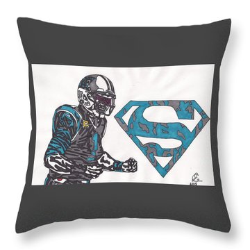 Cam Newton Superman Edition Throw Pillow