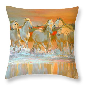 Camargue  Throw Pillow by William Ireland