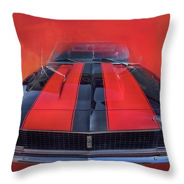 Throw Pillow featuring the photograph Camaro - Forged By Fire by Theresa Tahara