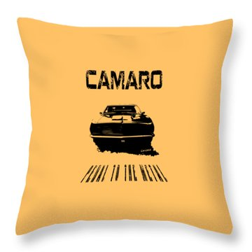 Camaro Ss - Pedal To The Metal Throw Pillow