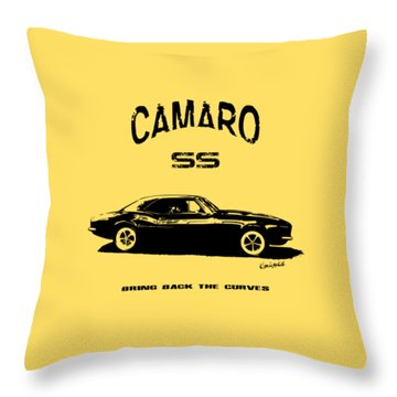 Camaro Ss V.2 Throw Pillow