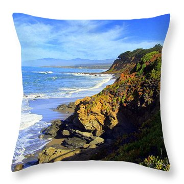 Cambria By The Sea Throw Pillow
