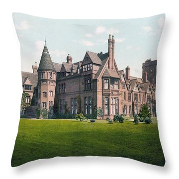 Cambridge - England - Girton College Throw Pillow