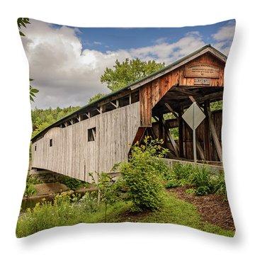 Cambridge Junction Bridge Throw Pillow