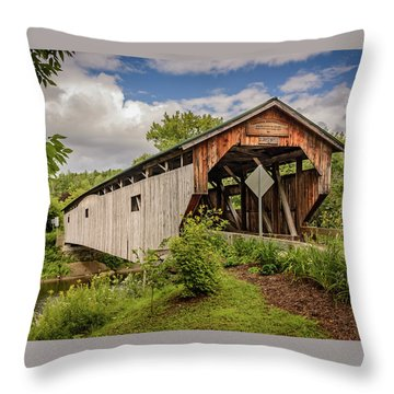 Cambridge Junction Bridge Throw Pillow