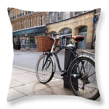Throw Pillow featuring the photograph The Wheels Of Justice - Cambridge Magistrates Court by Gill Billington