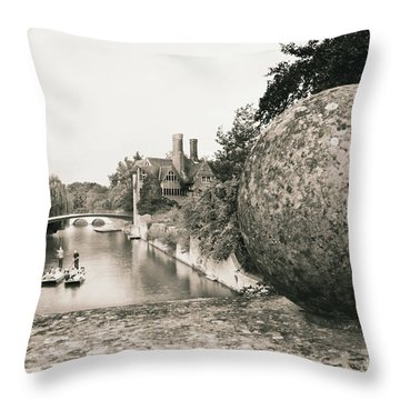 Cambridge Punting  Throw Pillow