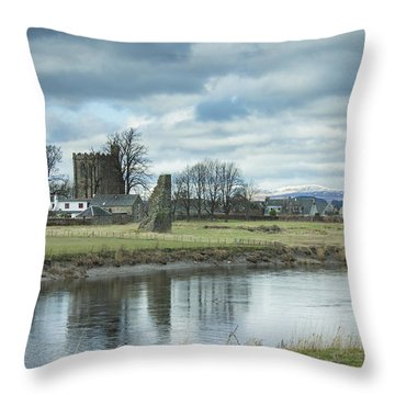Cambuskenneth Abbey And The River Forth Throw Pillow