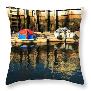 Camden Boats Throw Pillow
