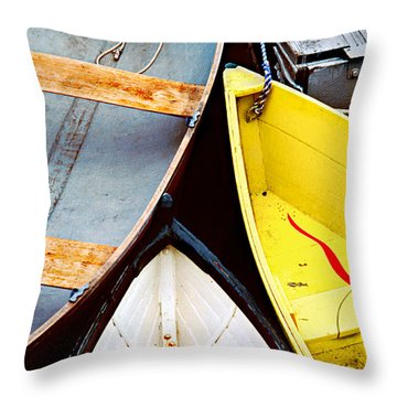 Throw Pillow featuring the photograph Camden Dories Photo by Peter J Sucy