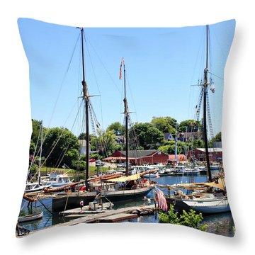 Camden Harbor #2 Throw Pillow