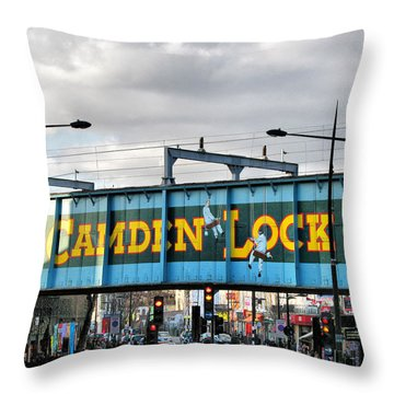 Camden Lock Throw Pillow