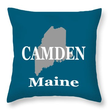 Throw Pillow featuring the photograph Camden Maine State City And Town Pride  by Keith Webber Jr