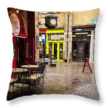 Camden Stables Market Throw Pillow by Rae Tucker
