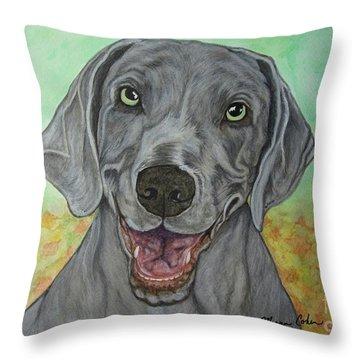 Camden The Weimaraner Throw Pillow