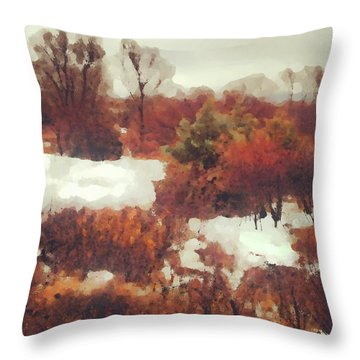 Came An Early Snow Throw Pillow