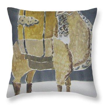 Camel Facing Right Throw Pillow