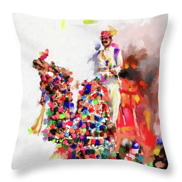 Camel Fair 434 1 Throw Pillow