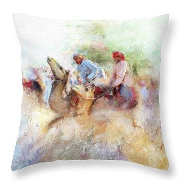 Camel Race 2 668 1 Throw Pillow