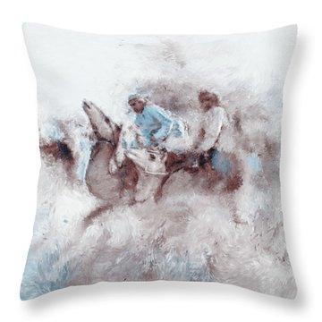 Camel Race 2 668 2 Throw Pillow