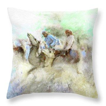 Camel Race 2 668 3 Throw Pillow