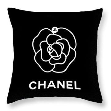 Camellia Chanel Throw Pillow