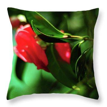 Camellia Dream Throw Pillow by Rebecca Sherman