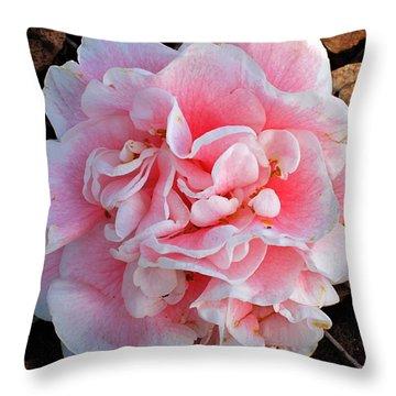 Camellia Flower Throw Pillow by Susanne Van Hulst