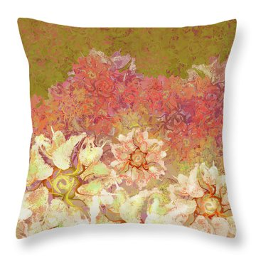 Camellia Hedges Throw Pillow