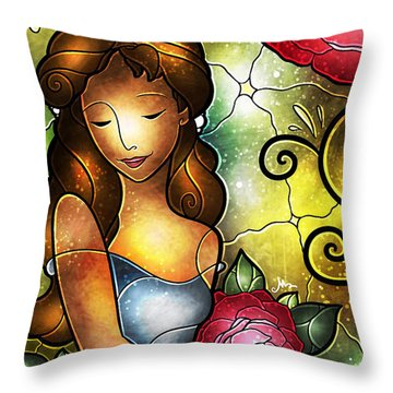 Lady Camellia Throw Pillow
