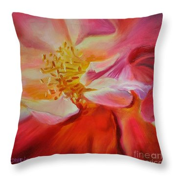Camellia's Blush Throw Pillow