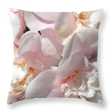 Camellias Softly Throw Pillow by Michele Myers