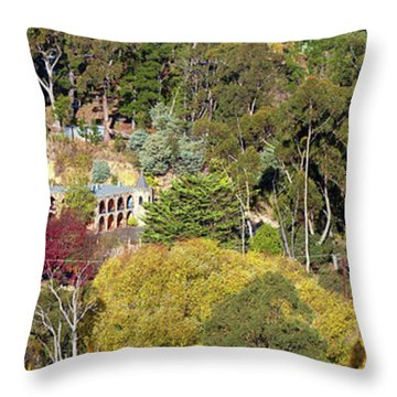 Camelot Castle, Basket Range Throw Pillow by Bill Robinson