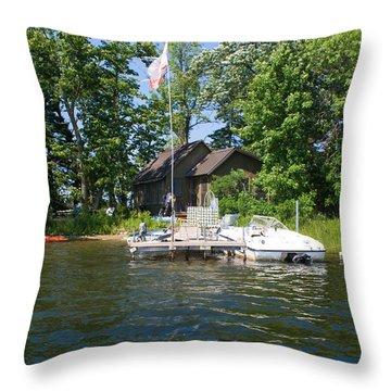 Camelot Island  Throw Pillow