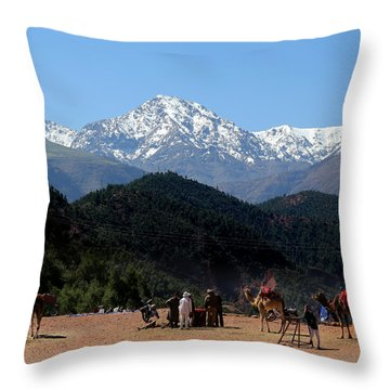 Throw Pillow featuring the photograph Camels 1 by Andrew Fare