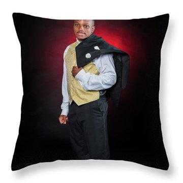 Cameron 012 Throw Pillow by M K  Miller