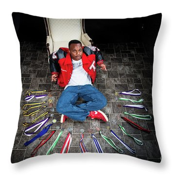 Cameron 020 Throw Pillow by M K  Miller