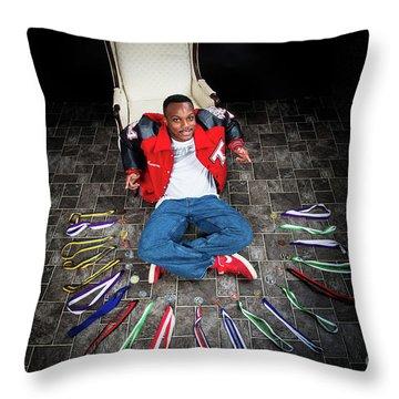 Cameron 021 Throw Pillow by M K  Miller