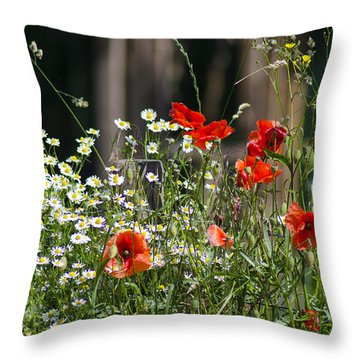 Camille And Poppies Throw Pillow